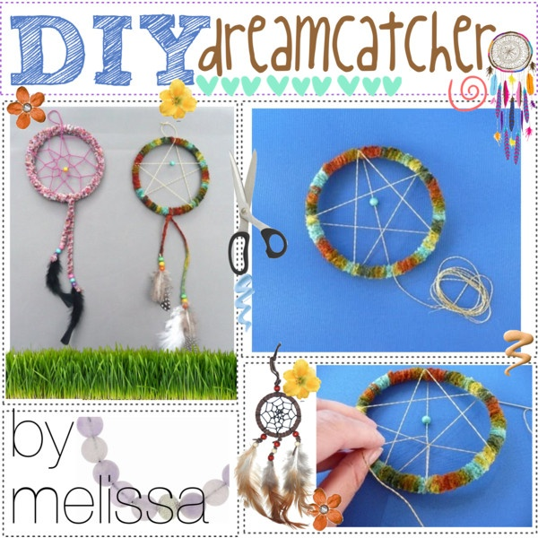 """DIY dream catcher . . . ♥"" by the-polyvore-tipgirls on Polyvore  http://www.thatartistwoman.org/2009/07/how-to-make-dreamcatcher.html#"