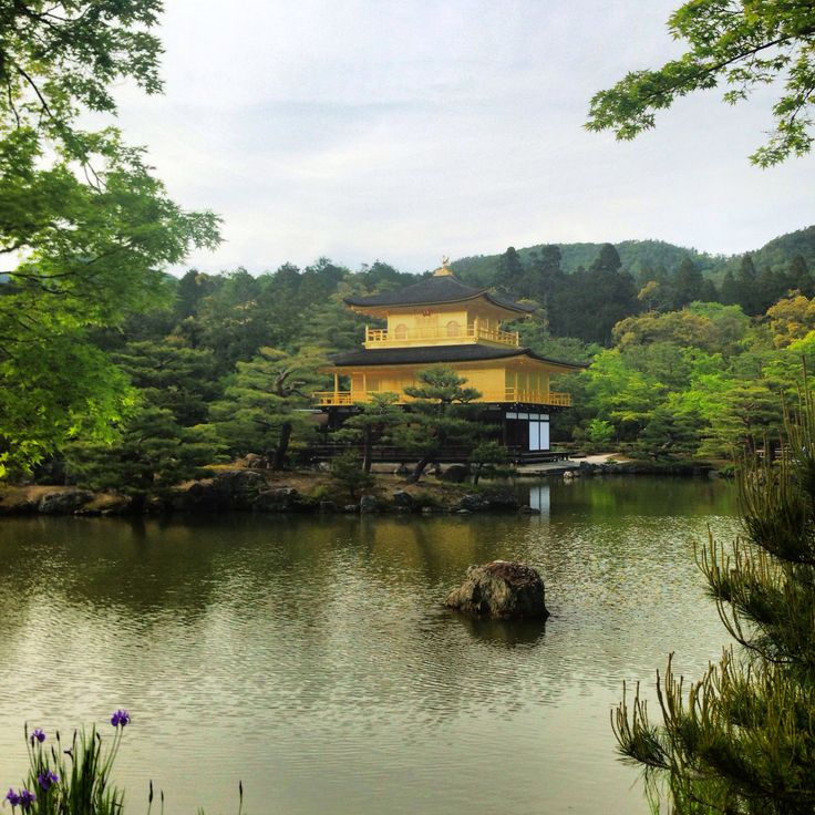 Golden palace in Kyoto.