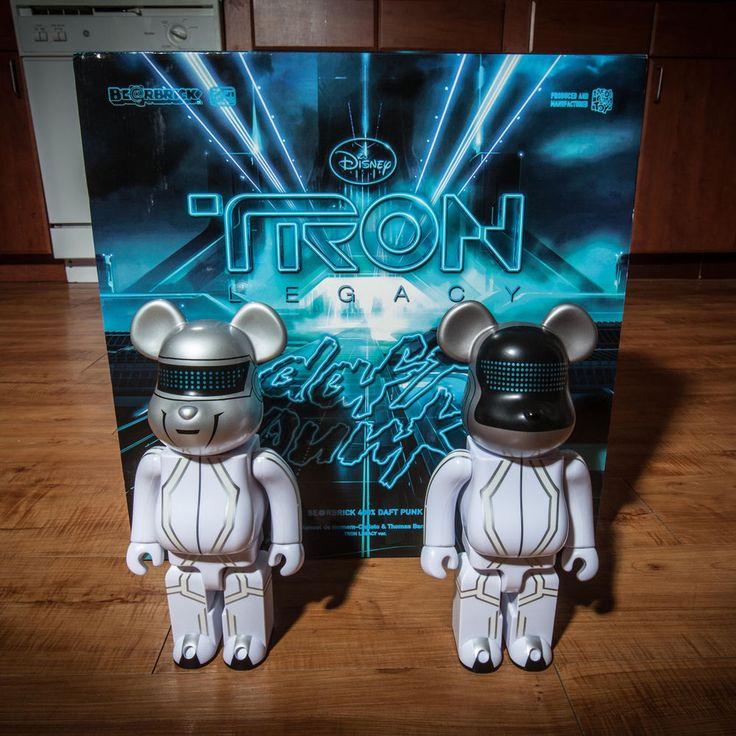 Daft Punk Tron Legacy 400% Disney BEARBRICK SET 2010 Medicom #Medicom