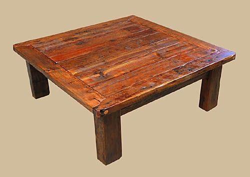 Barnwood 및 석재 타일의 소박한 커피 테이블 - 스토니 크릭 목재 및 ...