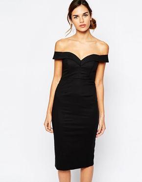Bardot Sweetheart Off Shoulder Dress