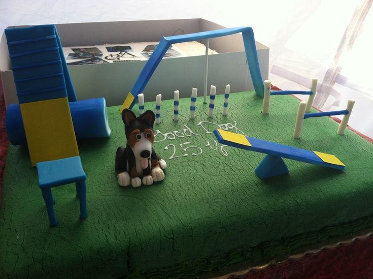 Dog Agility Cake Decorations : 11 best Agility Theme Cakes images on Pinterest Theme ...
