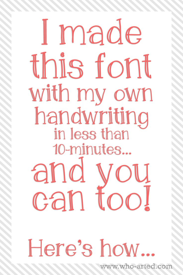 Ideas About Handwritten Fonts