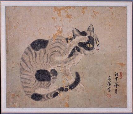 고양이 - 군후필묘도