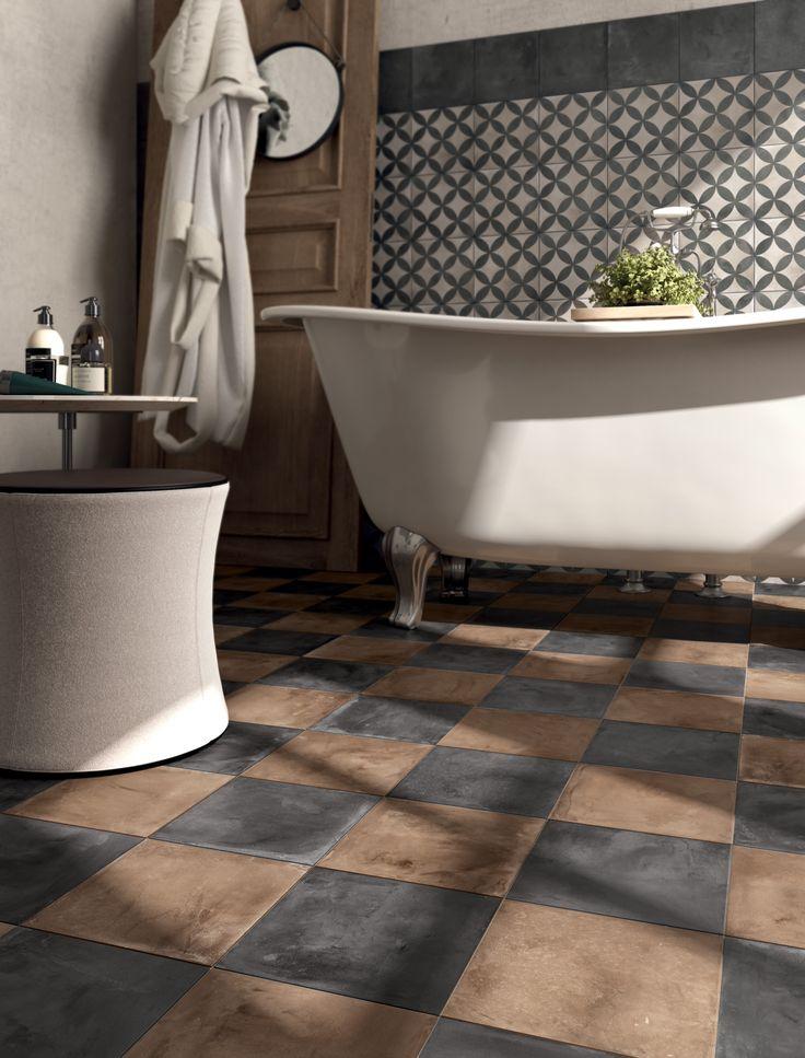 Porcelain stoneware #floor #tiles and #wall #tiles Terra #cementtiles #cement #hexagontiles #hexagon #brick #moroccantiles #moroccanmosaic #mosaic from @marcacorona