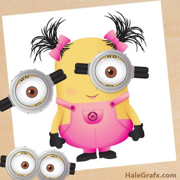 FREE Printable Pin The Goggles On Girl Minion