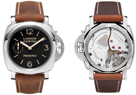 """""""Tonight in Milan, Panerai will unveil a new watch, the Luminor Marina 1950 3 Days, or the PAM 00422. The PAM 00422 features the brand's new in-house P. 3001 caliber which has hour, minutes, small seconds at 9 o'clock and what we think is the coolest part about it, a power reserve of three days that is viewable through the case back. The Luminor Marina 1950 3 Days is sized at 47mm and sits in the Luminor 1950 case with a cusp-shaped carrure, which takes its inspiration from a rare..."""