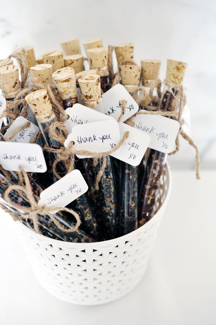 Bridal shower favors: tea tubes