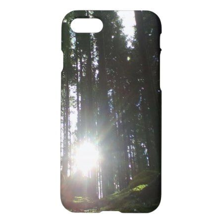 The sun in the forest iPhone 7 case - click/tap to personalize and buy