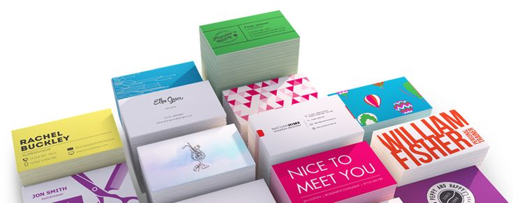 two colour business card