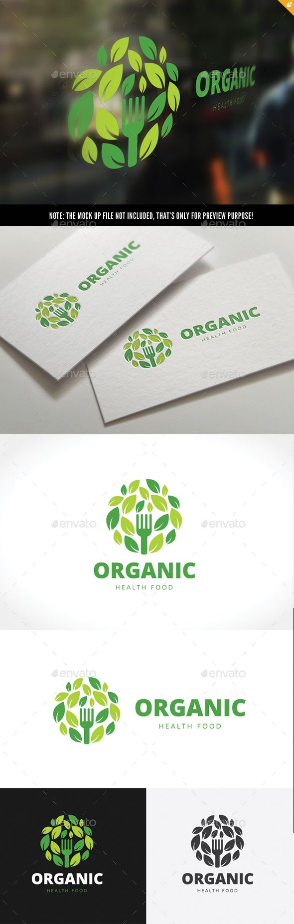 Organic Healthy Food Logo - Nature Logo Templates Download here : http://graphicriver.net/item/organic-healthy-food-logo/15896406?s_rank=70&ref=Al-fatih