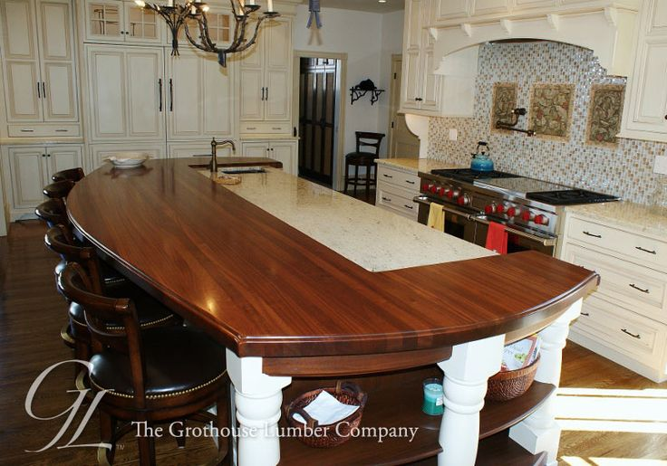 Featured Project Of The Week, Custom Mahogany Wood Countertop In Cape May,  New Jersey