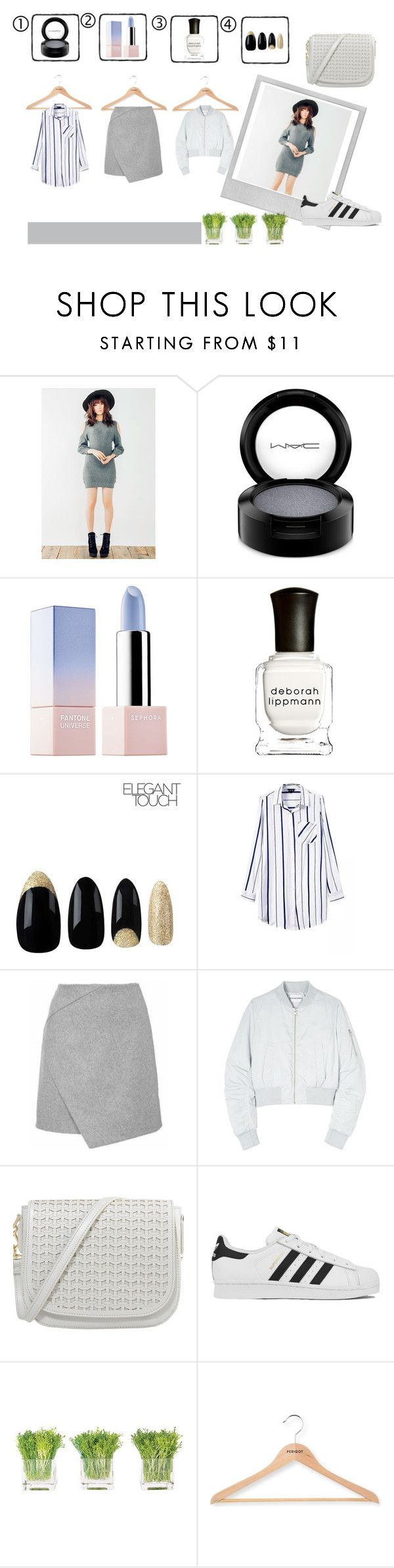 """geunine-people"" by v-papas on Polyvore featuring MAC Cosmetics, Sephora Collection, Deborah Lippmann, Won Hundred, adidas, NDI, Polaroid, PERIGOT, women's clothing and women"