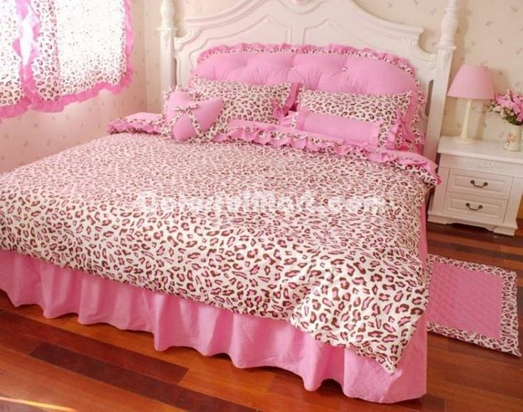 Pink Cheetah Print Bedding Sets