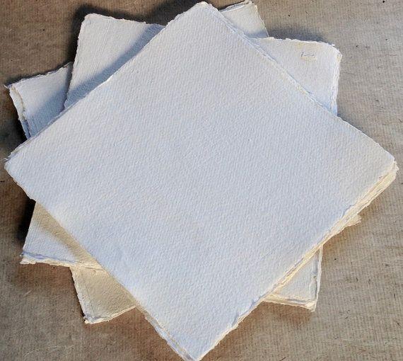 12 Pouces Carres Square Khadi 320gsm Papier 30x30cm Surface
