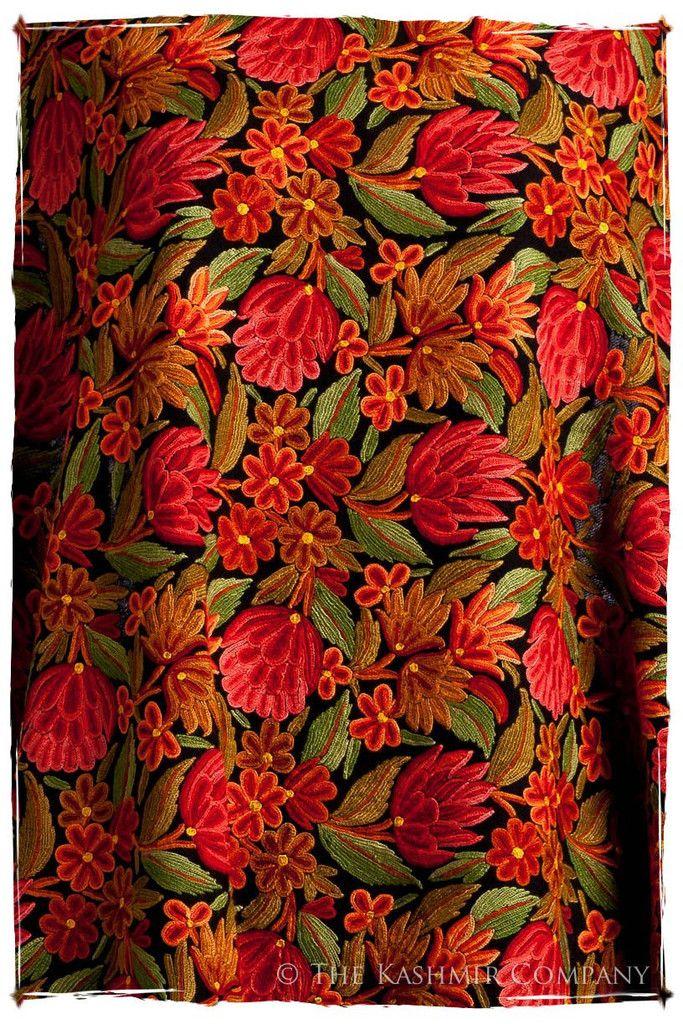 Lotus de l'été Indien Antiquaires Shawl — Seasons by The Kashmir Company