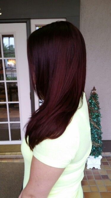 Merlot Red Hair (unfiltered) Matrix haircolor by Brianna Thomas