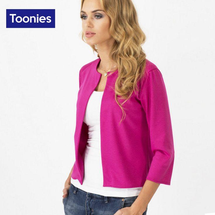 2016 Autumn Fashion Blazer Feminino Slim Fit Women's Jackets Three Quarter Sleeve Women's Suits Office Lady Clothes Plus Size