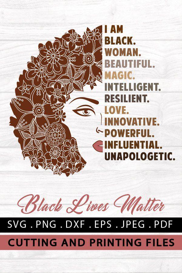 Download Black Woman Svg Png Eps Dxf Black Girl Magic Svg Afro Svg 718417 Illustrations Design Bundles Black Girl Magic Art Black Girl Magic Black Girl