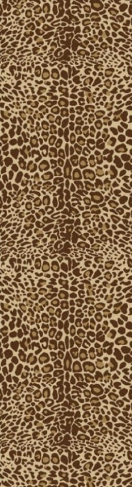 Animal Prints Leopard Gold Runner Non-Skid Area Rug 2' X 6'10 Accent Home Decor #Animal