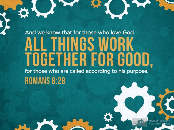And we know that for those who love God all things work together for good, for those who are called according to his purpose. For those whom he...