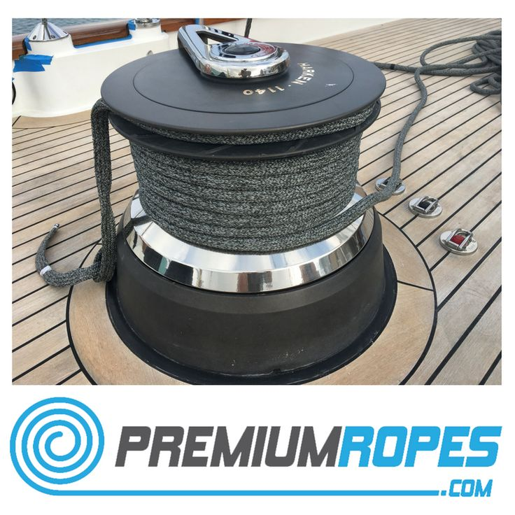 One of our Dyneema ropes on a winch on board of a Perini Navi #yacht #rigging #winch #premiumropes #premium #dyneema #ropes #yachtrigging #rigger #international #megayacht #sailingyacht #sailing #superyacht #perininavi