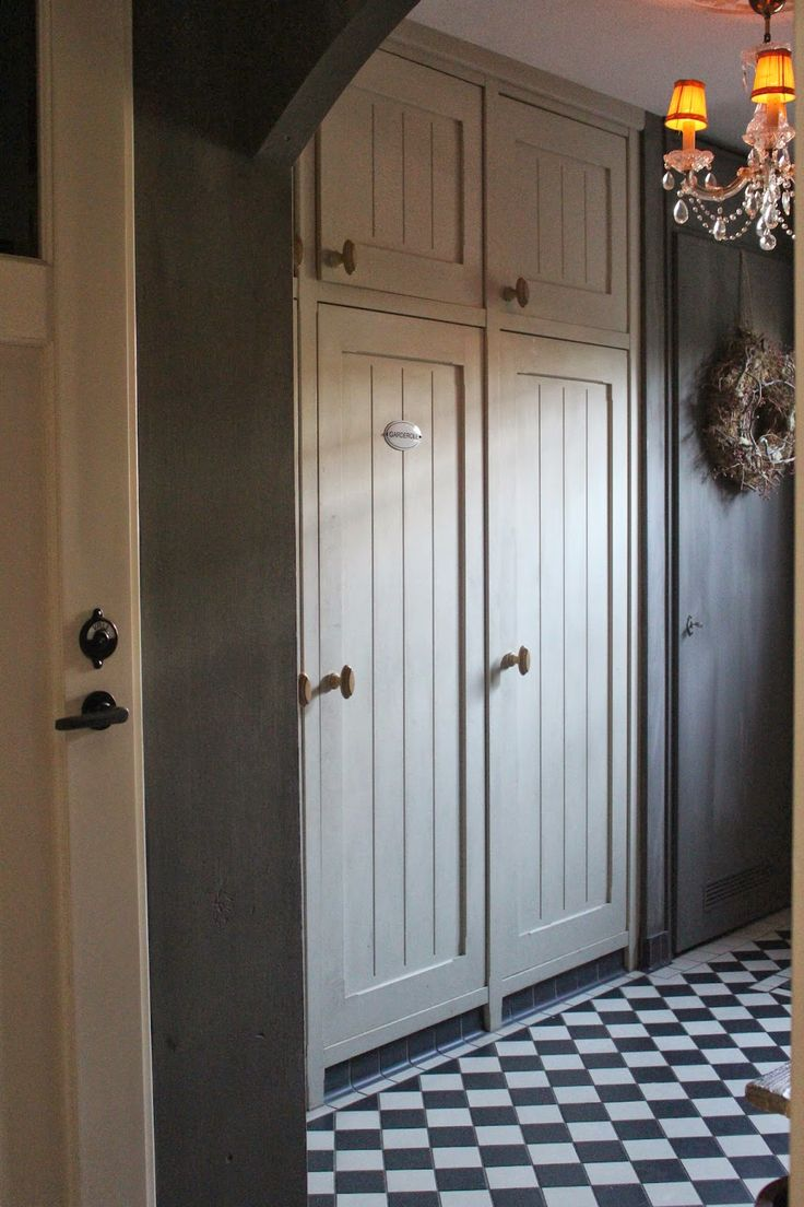 love the cupboards in this entryway
