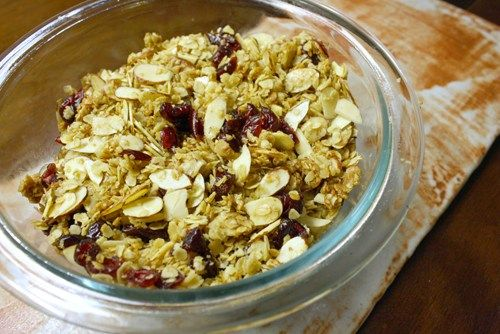 Vegan Granola Recipe: Maple, Almond, & Cranberry