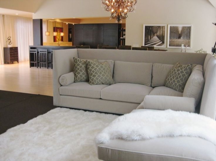 Love The High Back On This Sectional.....would Be Awesome In