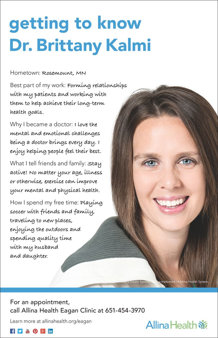 Meet Dr. Brittany Kalmi. She is a family medicine doctor