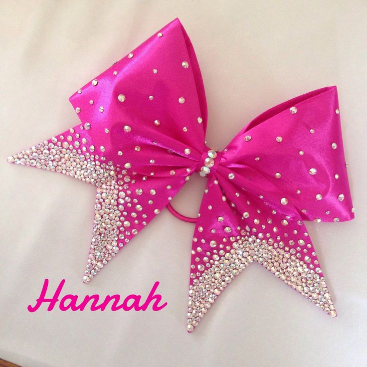 Hannah - Hand Sewn Fabric Cheer Bow by BlingItOnDesignsCA on Etsy https://www.etsy.com/listing/235002925/hannah-hand-sewn-fabric-cheer-bow