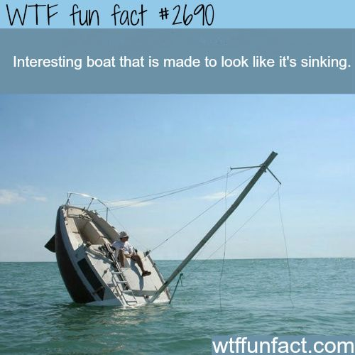 Boat designed to look like its sinking