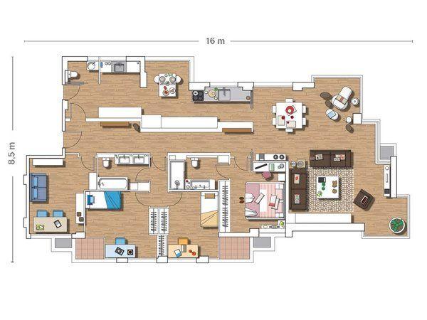 Mejores 29 im genes de planos casas 1 piso en pinterest for Ver planos de casas de un piso