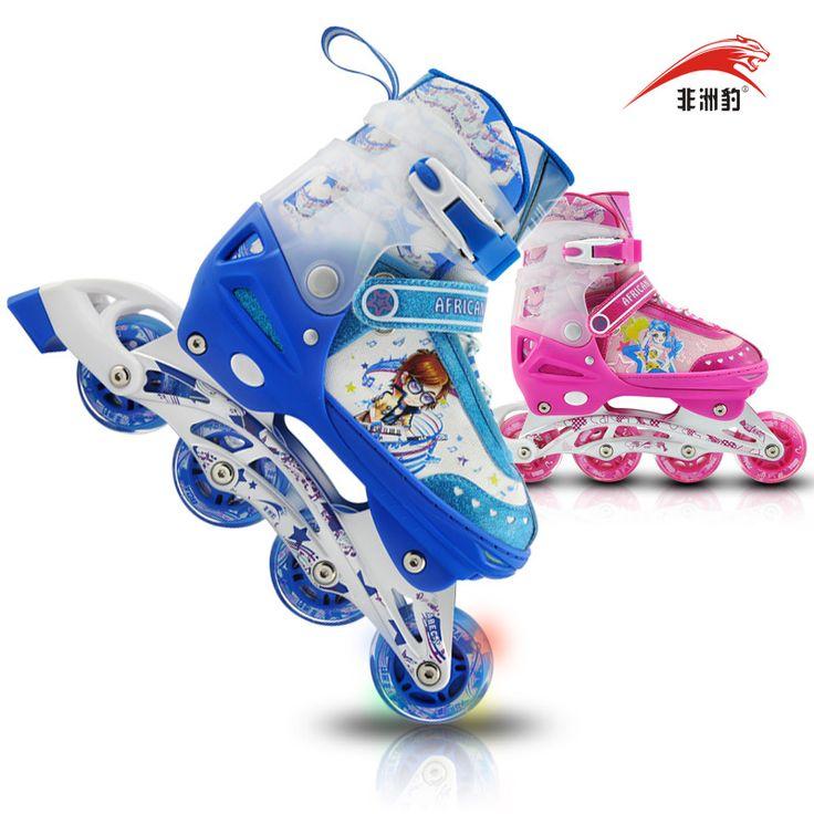 Африканский леопард катание на коньках обувь полный комплект по уходу за детьми регулируемый вспышки катания на роликовых коньках обувь роликовые коньки