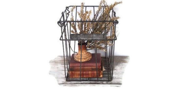 Vintage Rustic Style Egg Crate Rack Holder Shabby Chic ...  |Egg Crate Shelving