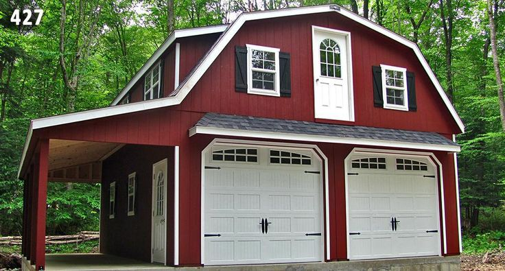 1000 ideas about gambrel roof on pinterest dream master for 2 story garage plans with loft