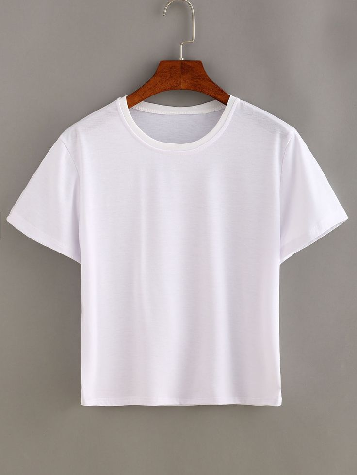 Shop Plain White Short Sleeve T-shirt online. SheIn offers Plain White Short Sleeve T-shirt & more to fit your fashionable needs.