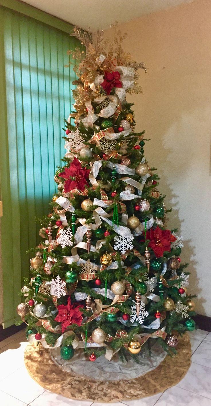 46 mejores im genes de arbol de navidad en pinterest - Cintas arbol navidad ...