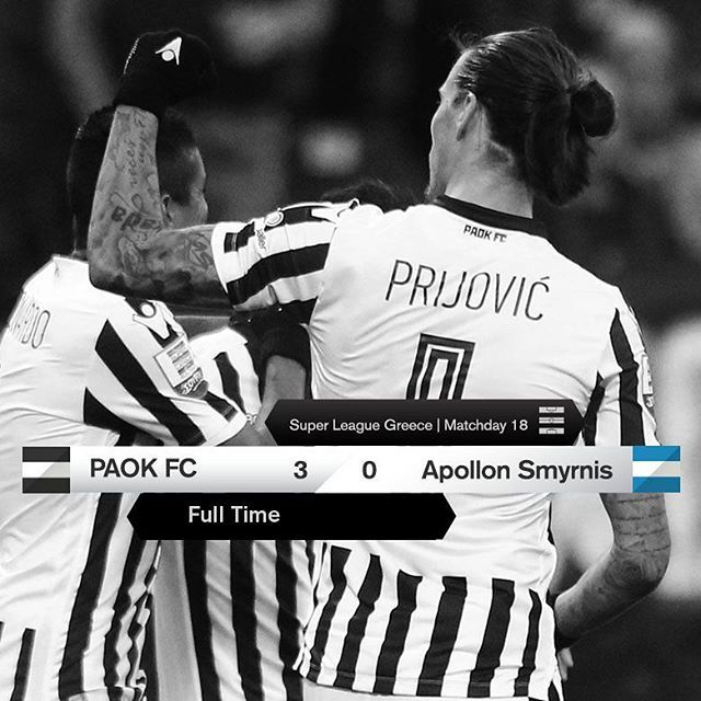 #PAOKAPOL 3-0 #SuperLeague