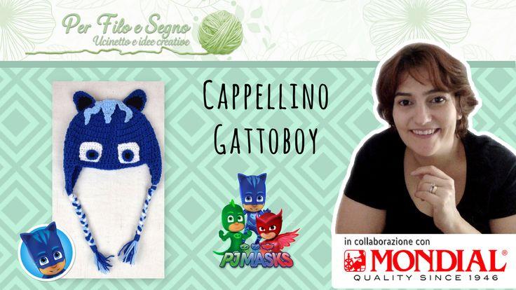 Cappellino Gattoboy. Questa volta ho realizzato il cappello di Cat Boy (Gattoboy) della serie Pj Mask (Super Pigiamini). Nel video tutorial spiego passo passo come realizzare il cappello e ogni suo dettaglio www.perfiloesegno.com