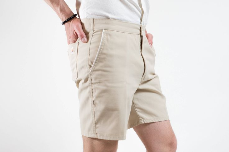 70's Short Shorts / GWG Union Made Surfing Sailboat Shorts / Durable Outdoor Hiking Beige Skinny Shorts / Mens 32 Waist / Made in Canada by PrincipalVintage on Etsy