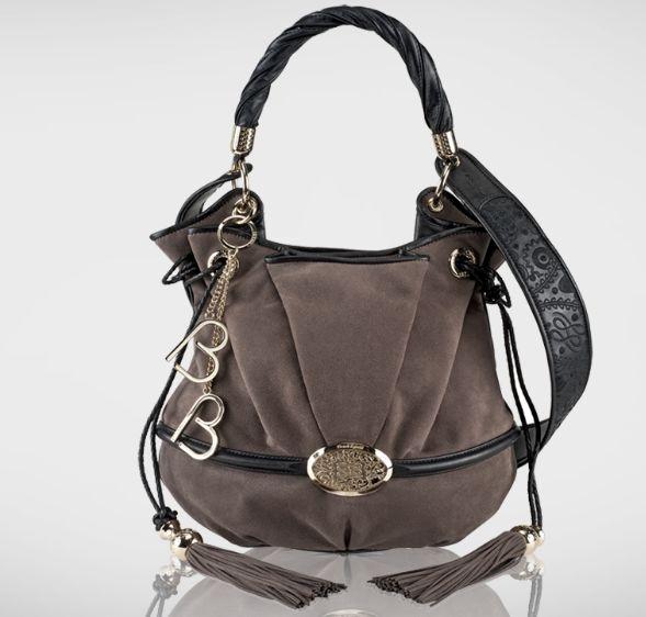 Lancel - Le Brigitte Bardot bucket bag, Alcantara, Smoked Grey, Ref: A04801-O6