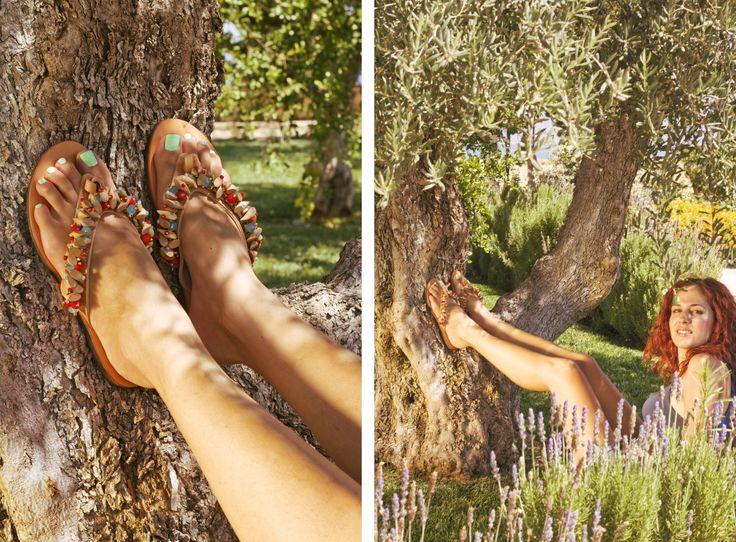 Woodstock Flip-flop! Love the nature! BonbonSandals