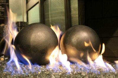 8 silver fireballs - Moderustic Aquatic Glassel