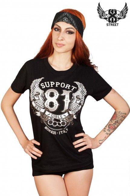 81 Street Wear Bad Girls Crew T Shirt Ladies And