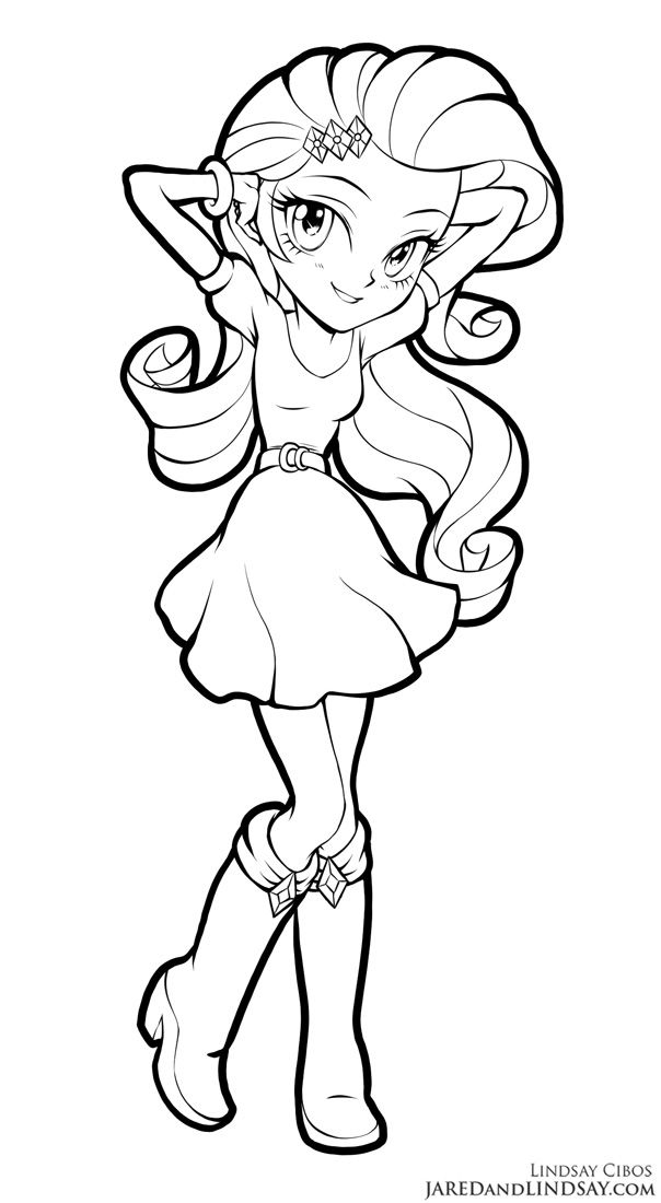 Rarity Equestria Girls By Lcibos Coloring Pages For