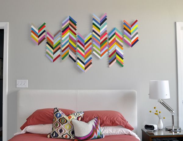 ChevronFrontRetouchedLoRes 50 DIY wall art tutorials