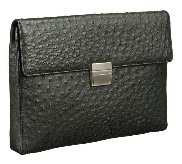 Khari Bag Durban / Material Ostrich Leather / Dimensions: w36 x h25 x d4