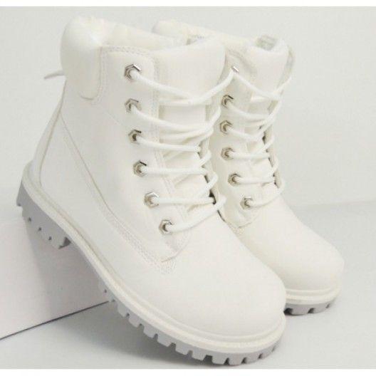 Komfortné dámske workery biele na nízkom podtpätku - fashionday.eu