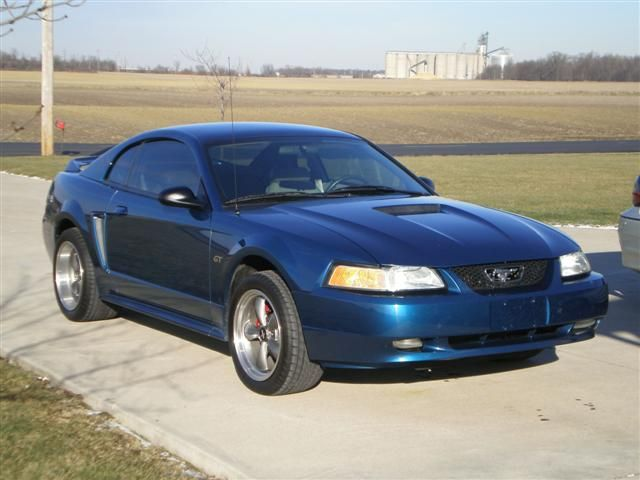 Blue 2000 Ford Mustang,V6 Atlantic Blue